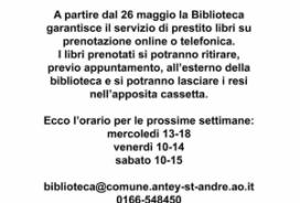 2020/05/26 ORARI BIBLIOTECA