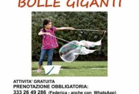 2018/08/10 Attività per famiglie BOLLE GIGANTI