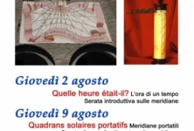 2018/08/09 SERATE SULLA GNOMONICA E L'ARTE DI MISURARE IL TEMPO