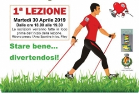 2019/04/03 CORSO BASE DI NORDIC WALKING