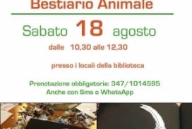 2018/08/18 Laboratorio per bambini BESTIARIO ANIMALE